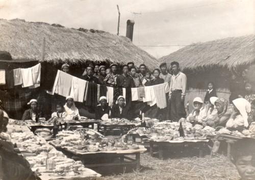"""Юбилей Ким Марии, жены Хан Ан Гира. Колхоз """"Социализм"""". 1951 год"""