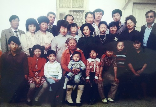 Семья Ким Чан Дина и Хан Ге Сун. 1989г