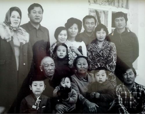 Семья Ким Чан Дина и Хан Ге Сун. 1975г