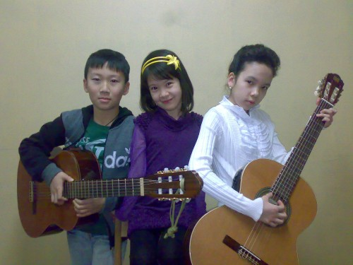 Внуки-музыканты Ким Ге Ро