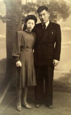 Ли Гван Хо с супругой